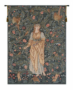 Flora without border Belgian William Morris Woven Tapestry Wall Hanging NEW