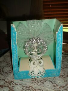 VINTAGE COAST NOVELTY 25TH WEDDING ANNIVERSARY CAKE TOPPER W/BOX