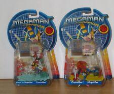 Megaman NT Warrior figure bundle.Protoman, Freezeman, Mega Man. 2004. Sealed