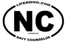 4x6 USN NC NAVY COUNSELOR     STICKER