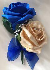 Buttonhole, Royal blue/Gold