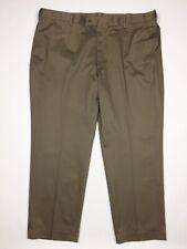 Brown Sandstone Perry Ellis Portfolio Mens Flat Front Folio-Flex Dress Pant