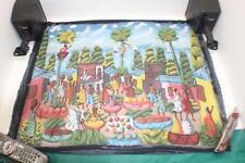 "Caribbean Island Haitian African Village Folk Art Painting Canvas 26""x31"" ""Samy"""