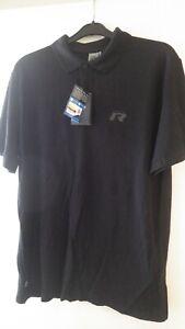 Genuine VW Golf R R32 Mens L Black Polo Shirt Merchandise 100% Cotton UV Resist