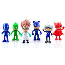 6Pcs Cute Pj Masks Catboy Characters Gekko Owlette Cloak Action Figure Kids Toys