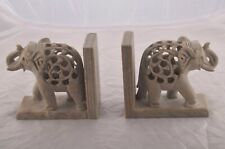 Handmade Bookend Stone Elephant Bookend Mother Elephant With Baby Inside Tummy