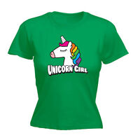 Funny Novelty Tops T-Shirt Womens tee TShirt - Unicorn Girl