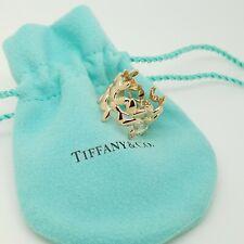 Tiffany & Co. 18K Rose Gold Paloma Picasso Olive Leaf Ring Band Size 6.5