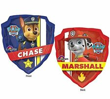 """27"""" Nickelodeon Paw Patrol Chase Marshall Double Sided Mylar Foil Balloon Party"""