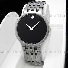 Men's Movado ESPERANZA Latest Model Black Museum Dial Swiss Quartz Watch 0606042