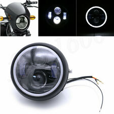 "5.75"" Angel Eyes Motorcycle LED Head Fog Light High Low for Bobber Cafe Racer 1x"