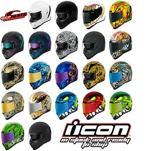 ICON AIRFORM MOTORCYCLE STREET BIKE HELMET DOT - PICK SIZE/COLOR