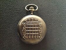 POCKET WATCH NO.29 BRONZE  COLOURED HUNTER PORTCULLIS DESIGN