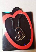 collana con ciondolo a forma di cuore con zirconi nuova