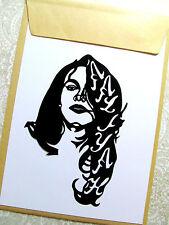 "AALIYAH, Original Pop Art, Music Celebrities vinyl decal Sticker 4""X 5½"" inches."