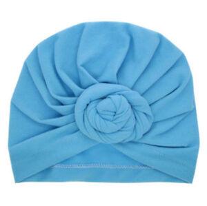 Cute Newborn Baby Turban Headwraps Big Bow Knot Girl Floral Cotton Wide Headband