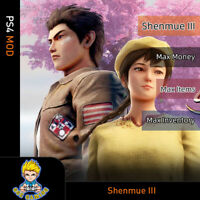 Shenmue 1/2/3 (PS4 Mod)- Max Money/Tokens/Capsule Ticket/Inventory