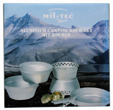 Mil-Tec Aluminium Camping Koch-Set mit Kocher Outdoor Kit Cook Pfanne Töpfe Topf