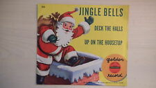 Little Golden YELLOW Record JINGLE BELLS /Deck The Halls/Up On Housetop 78rpm50s