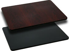 30 x 60 Rectangular Table Top w/Black or Mahogany Reversible Laminate Top New
