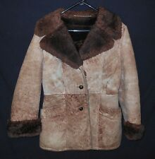 Vtg Women's Shearling Coat Rancher Marlboro Woman 11-12