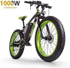 "ZLZNX Fat Tire Electric Bike Mountain Bike 26""E-Bike-Green"
