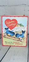 VTG Bluebird Greeting Card USA Anthropomorphic Bird Valentine's Ephemera Scrapbo