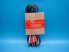 (1) HOSA CSS-202 DUAL 1/4 TRS TO 1/4 TRS STEREO INTERCONNECT CABLE 6.6FT (2M)