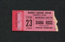 Original 1983 Diana Ross Concert Ticket Indianapolis Supremes Endless Memories