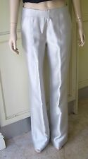 Therese Rawsthorne Silk Silver Disco Pants  (Size 8)  Clubwear, Evening