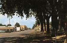 Aztec New Mexico Street Scene Motel Storefronts Vintage Postcard K9509