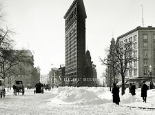 New York City photo Flat Iron Building 23rd St  5th Ave & Broadway Winter 1900s