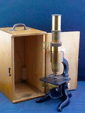 schönes altes Mikroskop  ca. um 1900 Schütz A-G Cassel