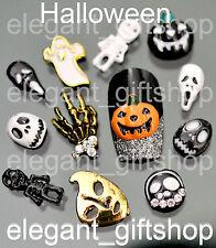 Halloween Alloy Nail Art Tips Decoration Pumpkin Skull Mask Skeleton #EJW_15