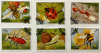 Sharjah & Dependencies Insect Stamps x 6 1972