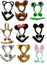 Animal Set 3 Piece Ear Bowtie Tail  Cosplay Costume Adults Kids Party Accessory