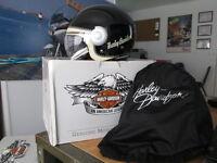 Harley Davidson Womens Sidewinder 3/4 Face Glos Black Helmet 97313-13VW