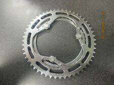 Vintage Universal one piece double steel chainring for 3 arm crank 52*40 VGC