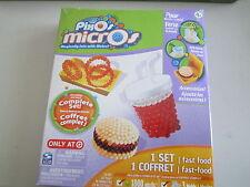 NEW Pixos Micros Mini Beads  Fast Food Onion Rings Drink  Hamburger Craft Set