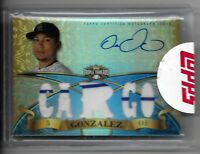 2014 Topps Triple Threads Emerald CARLOS GONZALEZ Autograph Jersey Relics 10/18