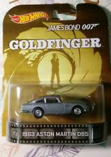 HOT WHEELS 1/64 RETRO JAMES BOND 007 GOLDFINGER 1963 ASTON MARTIN DB5 NEW