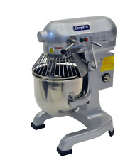 New 1Hp Commercial 10 Quart Food Mixer Gear Driven, 3 Speed, 3 Attachment, Timer