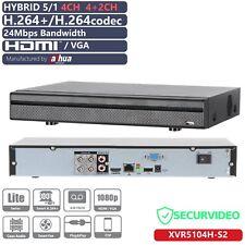 XVR 5/1 4CH+2CH 4MP 1080P HDCVI AHD TVI CVBS IP HDMI ONVIF P2P XVR5104H-S2 DAHUA