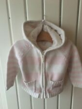 Baby Girl's Clothes 6-9mths - Jasper Contain Stripe Knitted Hooded Jacket 🌸