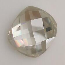 White Cushion Fancy Rose Cut Moissanite Ring Loose 0.90 Ct 6.21x6.12 mm Vvs1 Off