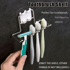 Stainless Steel Toothbrush Shelf Holder Shaver Storage Rack Bathroom Organizer|
