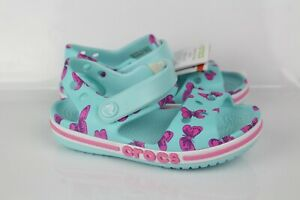 Crocs Kids' Toddler Bayaband Printed Sandals Size 8 Light Blue 206262
