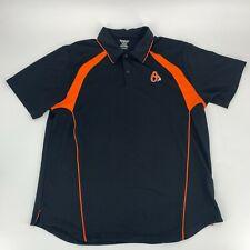 Reebok Mens Baltimore Orioles Baseball Polo Shirt Size XL Black Pullover Golf