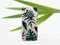 Floral Tropical Leaves iPhone XS Max XR iPhone 6 6s iPhone 7 8 Clear Case Cover