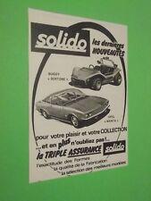 PUBLICITE - SOLIDO - VOITURE BUGGY BERTONE OPEL MANTA - MINIATURE - 1971 ( T8 )